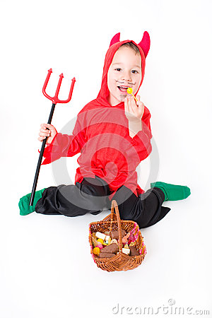 Free Little Devil Stock Photography - 46995002
