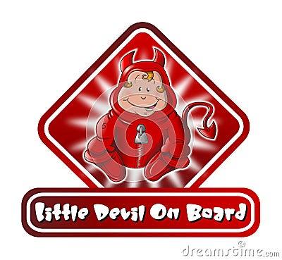 Little Devil on Board Sign