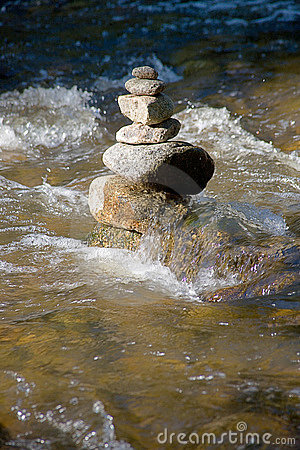 Free Little Ditch With Many Stones Royalty Free Stock Photos - 2864398