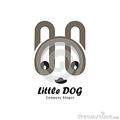 Little dog from letter H Vector Illustration