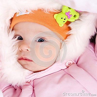 Little dressed infant