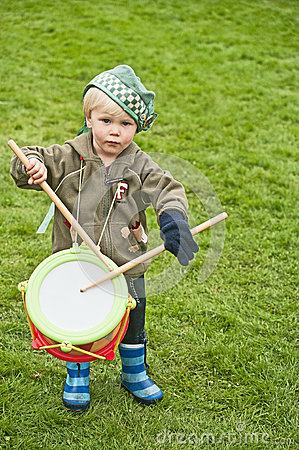 Little drummer at Braemar Gathering Editorial Photography