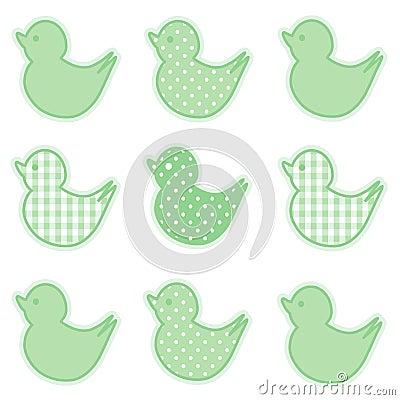 Little Duckies, Pastel Green