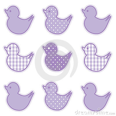 Little Duckies, Pastel Lavender