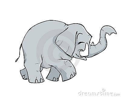 Little elephant cartoon