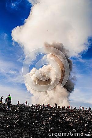 Free Little Eruption Of Semeru Volcano Stock Images - 96161424