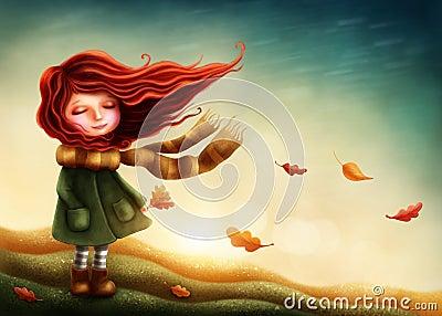 Little fairy girl Stock Photo