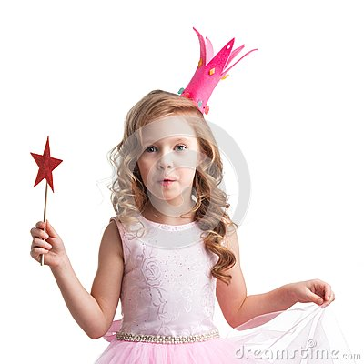 Free Little Fairy With Magic Wand Stock Images - 104190434