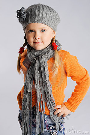 Little fashionable girl