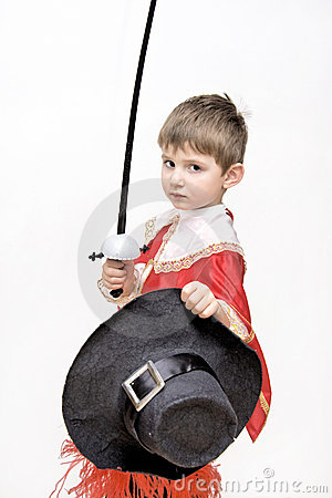 Little fighting musketeer.