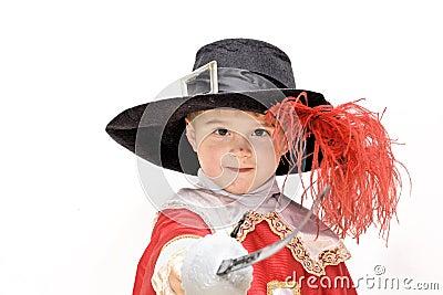 Little fighting musketeer.