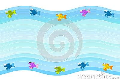 Little Fish Border Background