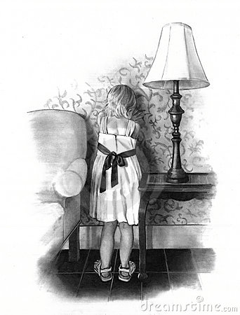 Little Flower Girl: Pencil Drawing