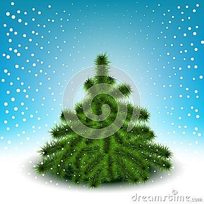 Little fluffy Christmas tree
