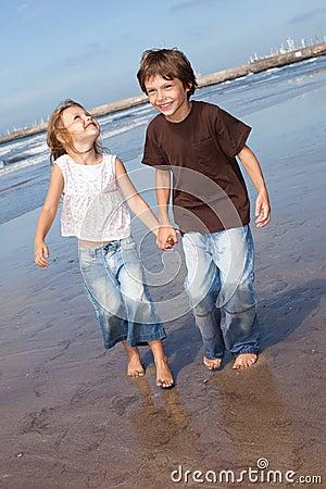 Little friends at the beach