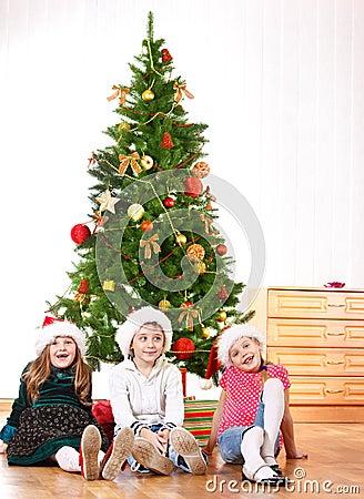 Little friends in Santa hats