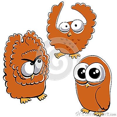 Little funny owl set #2