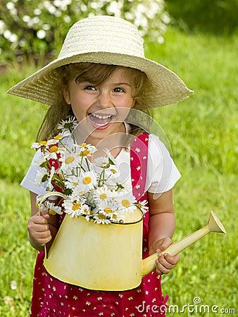 Free Little Gardener Royalty Free Stock Image - 9479306