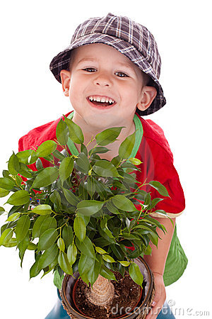 Free Little Gardener Boy Royalty Free Stock Photography - 21413807
