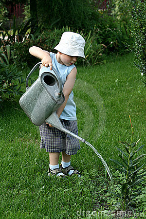 Free Little Gardener Boy Stock Photography - 2888752