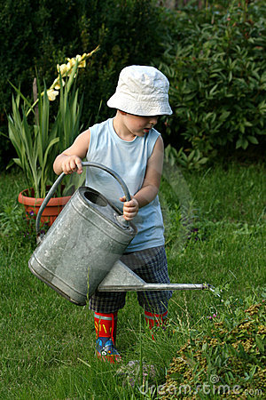 Little gardener boy