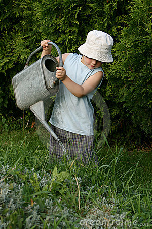 Free Little Gardener Boy Royalty Free Stock Photography - 2920367