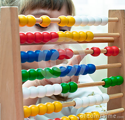 Little Girl with abacus
