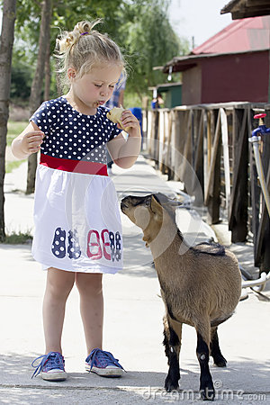 Free Little Girl And Billy Goat Stock Photos - 65999403