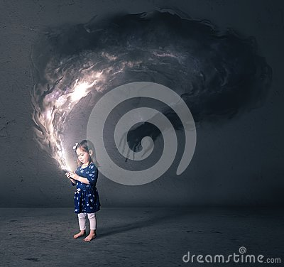 Free Little Girl And Cell Phone Royalty Free Stock Photo - 108738145