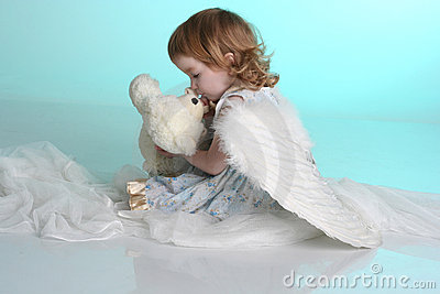 A Little Girl With Angel Wings Royalty Free Stock Photos ...