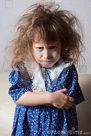 Free Little Girl Angry Stock Photography - 24008822