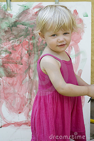 Little girl artist
