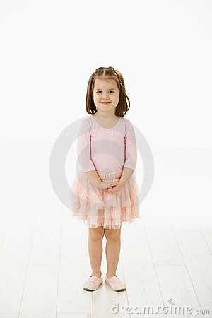 Little girl in ballet dress