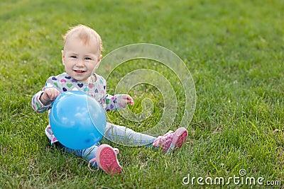 Little girl with a ballon