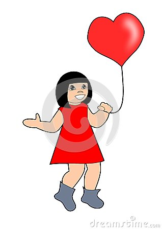 Little Girl with   Ballon.