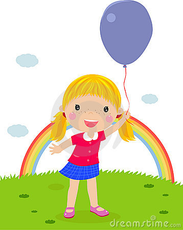Little girl with an balloon