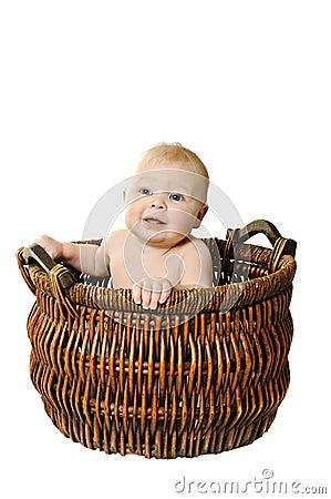Little girl in the basket
