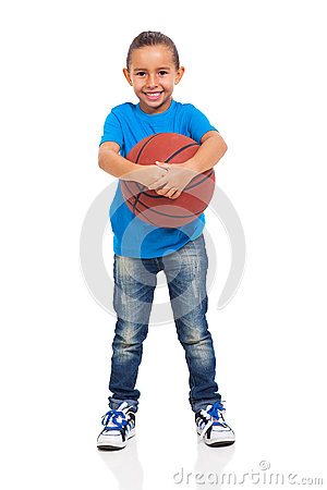 Little girl basket ball