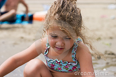 Little girl on the beach