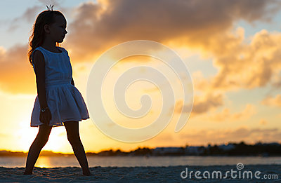 Little girl at a beach