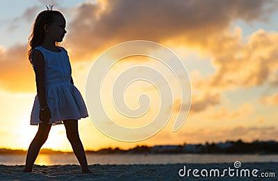 Little girl at a beach