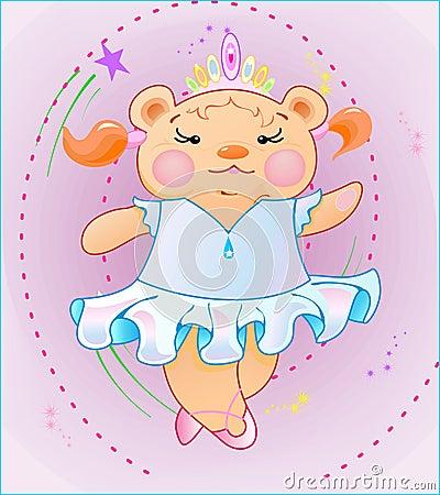 The Little girl is bear-cub