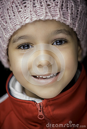 Little Girl with Beautiful Smile