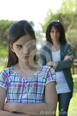 Free Little Girl Being Told Off Royalty Free Stock Photos - 26221568
