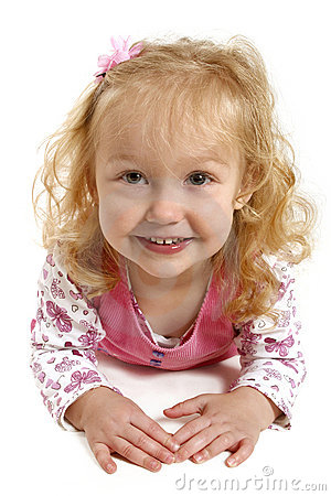 Little girl with a big smile