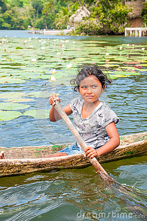 Little Girl in a Boat Editorial Stock Image