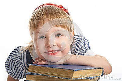 Little girl with book
