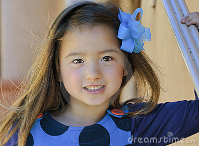Little Girl With Brown Eyes and Smile