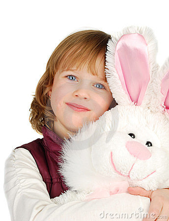Little Girl With Bunny Royalty Free Stock Photos - Image: 23606528