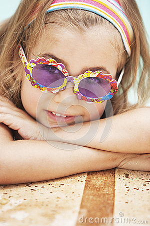 Free Little Girl By Poolside Royalty Free Stock Photo - 64046645